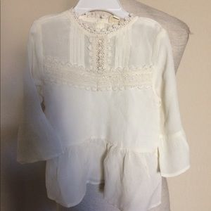 River Island Mini embroidered blouse 18/24 m $30
